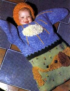 Вязание для новорожденных мешок